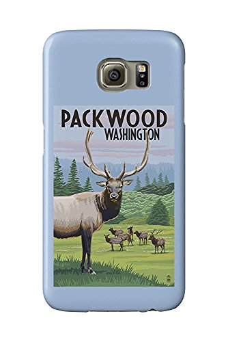 Packwood, Washington - Elk Herd (Galaxy S6 Cell Phone Case, Slim Barely There) -