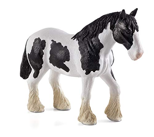 MGM - 387085 - Figurine Animal - Cheval Clydesdale Noir Et Blanc XL - 10 X 14 Cm