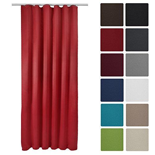Beautissu Blackout-Vorhang Amelie mit Kräuselband – 140×245 cm – Verdunklungsgardine Universalband – diverse Farben