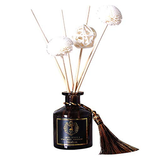 syeytx Ensemble D'Huiles Essentielles D'Aromathérapie Divers Arômes Floraux Diffuseurs D'Huile Avec Bâtons Naturels, Bouteille En Verre Et Huile Parfumée 50Ml Home Decoration (Chanel)