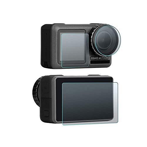 PaceBid 3 Pack 9H Pellicola Protettiva DJI Osmo Action Protezione per Obiettivo Fotocamera Protezione per Schermo Anteriore Protezione per Schermo