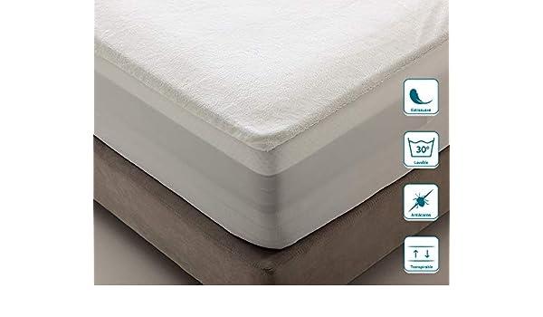 Traspirante antiacaro Extra Morbido Lavabile a 30/°C Don Descanso Proteggi Materasso da 105 x 190//200 cm Non Produce Calore e rumori Impermeabile Fino a 30 cm di Altezza Sostegno