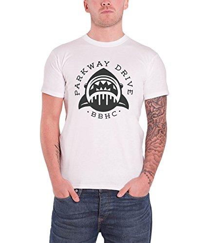 Parkway Drive Shark band logo offiziell Herren Nue Weiß T Shirt
