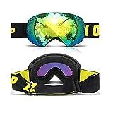 Occhiali da Sci, Snowboard Occhialini da Adulto E Donna - Uv400 Protezione Lenticolari Sferiche, Comoda per Il Sole E I Giorni Nuvolosi Perfetto per Pattini Sci Motoslitte