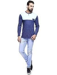 MakeOver Whitish Blue Cotton Slim Fit Jeans For Men