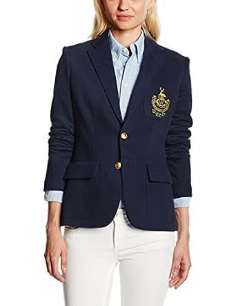 Polo Ralph Lauren Damen Custom Blazer Jacket, Blau