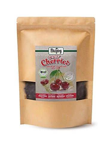 Biojoy Cerises griottes séchées BIO   100% griottes BIO soigneusement séchées sans noyau   qualité premium bio   sans additions sans soufre et scellées sans sucre   Prunus avium (1 kg)