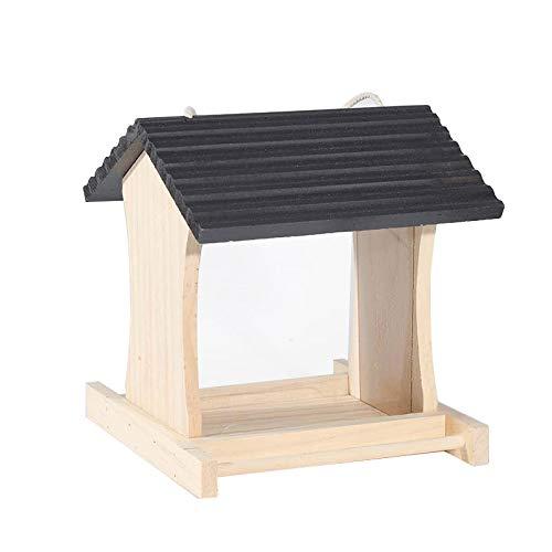 Ailihan Im freien Fütterung Wildvögel Schutz Vogelhäuschen Hof Villa Umweltschutz (19 * 18,5 * 20,5 cm)