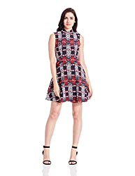 Tommy Hilfiger Womens A-Line Dress (A6AJV009S_Navy Blazer and Multi)