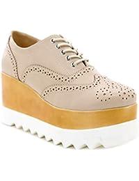 cdef5a409547b6 Toocool - Scarpe donna francesine mocassini zeppa sneakers stringate Queen  Helena X17-14