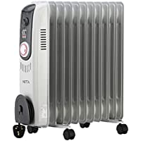 NETTA 2500W Oil Filled Electric Heater Radiator with Thermostat & 24 Hour Timer 2 Power Settings– 11 Fin
