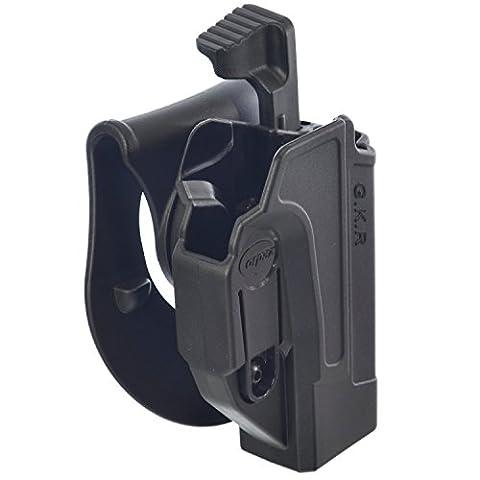 ORPAZ Defense Taktisch verstellbar drehbar drehung Paddle / Gürtel Pistole Holster Active Retention Mit Thumb Release Sicherheit für Glock 17/19/22/23/25/26/27/31/32/34/35