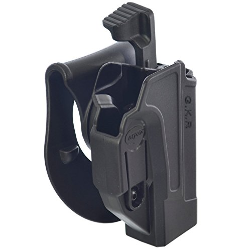 ORPAZ Defense Level 2 retention Tactical Thmub release safety Holster, Tention adjustment, Rotating 360 ROTO paddle for Glock 17/19/22/23/25/26/27/31/32/34/35 -