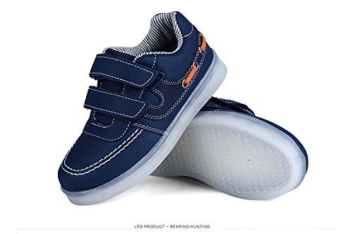 Speedeve 7 Farben LED Kinder, Jungen, Mädchen führte leuchten Trainer Sneakers Turnschuhe Sportschuhe blinken USB-Lade Schuhe Blue