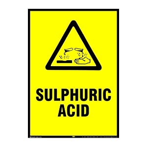 Mr. Safe – Sulphuric Acid Sign PVC Sticker A3 (11.7 inch X 16.5 inch)