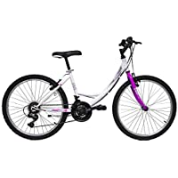 "giordanoshop Bicicletta da Donna 24"" 6V Denver Bike 524 First Girl Bianca"