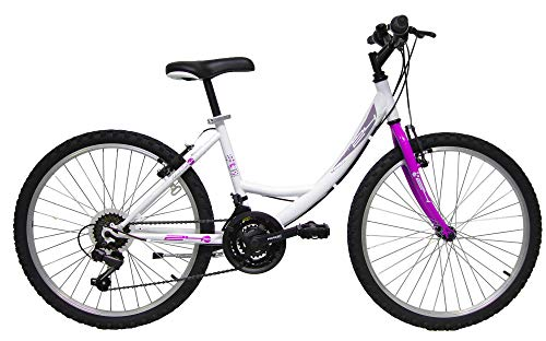 giordanoshop Bicicletta da Donna 24' 6V Denver Bike 524 First Girl Bianca