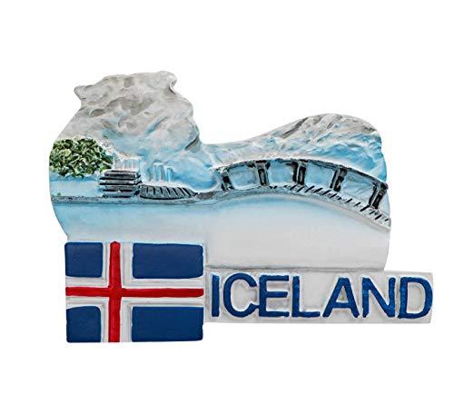 3D Résine Aimant de Réfrigérateur Tourist Souvenir de Voyage - Blue Lagoon, Islande