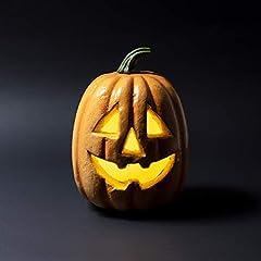 Idea Regalo - Lights4fun - Zucca di Halloween Decorativa con LED a Pile