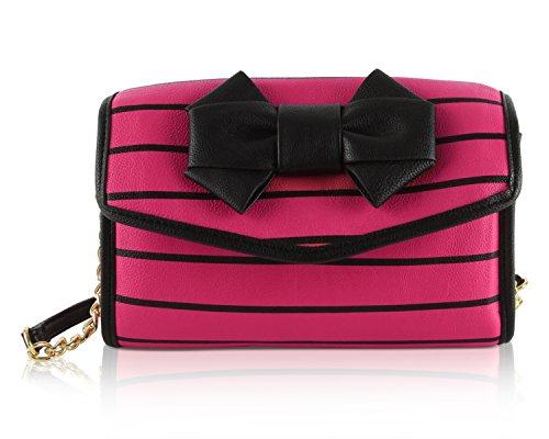 Betsey Johnson , Damen Umhängetasche Einheitsgröße, fuchsia (rosa) - BB17150 (Betsey Umhängetasche Johnson)
