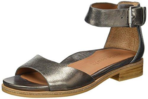 Gentle Souls Damen Gracey Flat with Ankle Strap Flache Sandale, Zinnfarben, 34 M EU