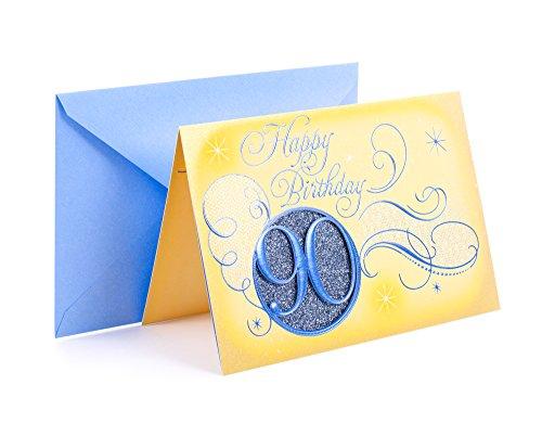 Hallmark 90th Birthday Greeting Card (Blue Circle)