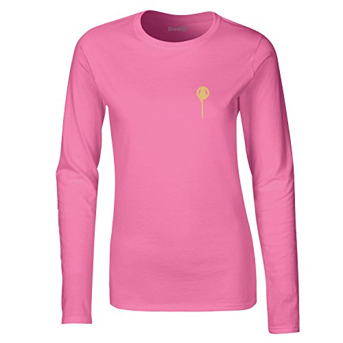 Brand88, The King's Hand, Dames t-shirt à manches longues Rose