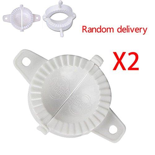 Minzhi 2X Press Kunststoff Dough Dumpling Pie Machen Hersteller-Form (Random Lieferumfang enthalten) (Formenbau-material)