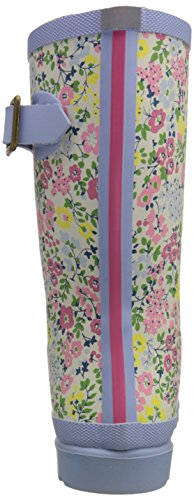 Joules  Printed Welly, Bottes Fille Multicolore - Multicolor (Cream Ditsy)