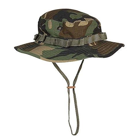 BOONIE HAT CHAPEAU DE BROUSSE BOB CAMO WOODLAND MILTEC 12325020 AIRSOFT COUVRE CHEF FORCES SPECIALES GI VIET NAM TAILLE M