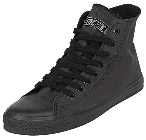 Ethletic Sneaker vegan Hicut Classic - Farbe Pewter Grey/Black aus Bio-Baumwolle Größe 42