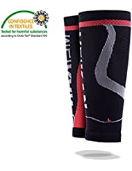 Calf Compression Sleeves,MEIKAN - Compression Leg Sleeves (1 Pair) / Calf Guards for Shin Splint, Varicose Vein & Calf Pain Relief,Circulation & Leg Cramp Compression Support Sleeve - Running, Jogging, Cycling, Fitness & Exercise Enhanced Performance - Men & Women (Negro, Medium)