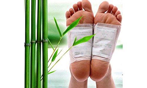 100Detox-Pflaster Kinoki für die Füße mit natürlichen Kräutern, Set für 50 Tage, von Black Forest Spa®