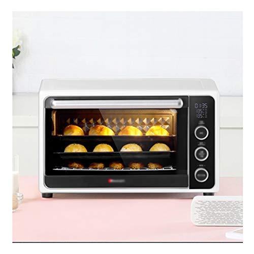 QPSGB Emaille-intelligenter elektrischer Ofen, Haushalts-Backen-Multifunktionsminibackofen, vollautomatischer 32L Liter-Aufsatz-Ofen der großen Kapazität 50.2 * 38.7 * 30.75cm -