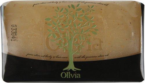 Natural Soap Bar (PAPOUTSANIS OLIVIA Natural Glycerin Facial Bar Soap with Olive Oil & Vitamin E 125g)