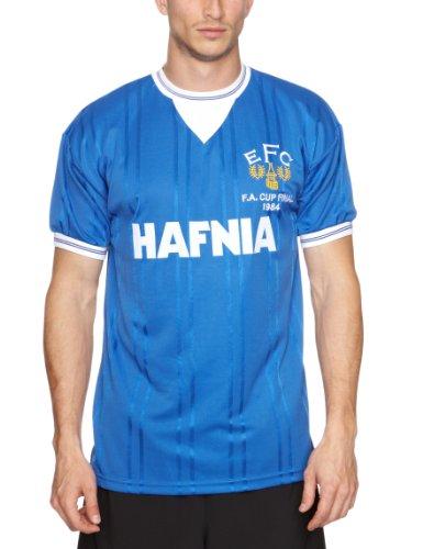 Score Draw Official Retro Herren Everton 1984FA Cup Final Shirt M Royal Blue (bleu marine)