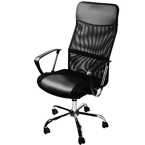 Sedia scrivania sedia seduta/schienale, seduta regolabile in altezza nera