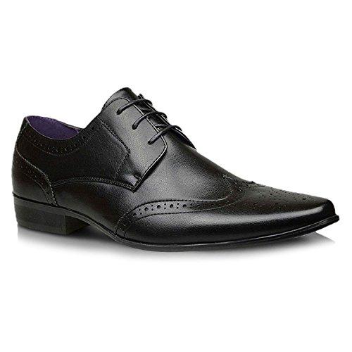 Xelay , Chaussures richelieu homme Noir/lacets