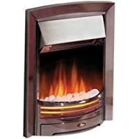Dimplex Adagio Chrome 2kw Electric Inset Fire c/w Coal and Pebbles Option