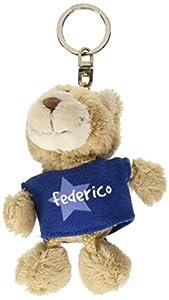 NICI n15871-Llavero Oso con Camiseta Federico, Azul