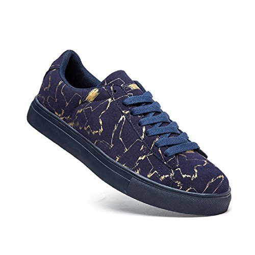 Uomo Scarpe sportive Personalità Scarpe casual Antiscivolo Tempo libero scarpe basse formatori Blue