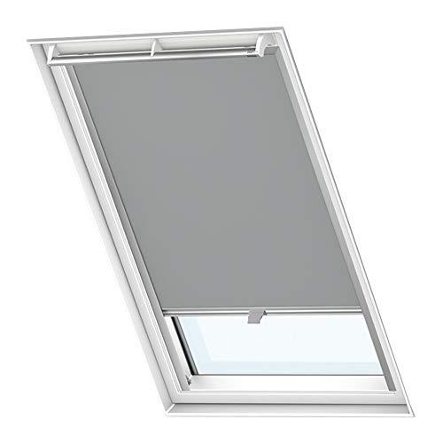 LZQ Dachfenster Verdunkelungsrollo Grau Thermo Sonnenschutz für Velux Fenstersysteme Dachfenster Verschiedene Größen Fenstertypen : GGL, GPL, GHL, GTL, GXL (P06/406, Grau)
