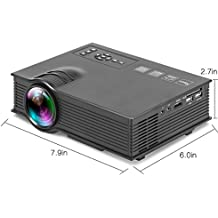 Proyector UC40 + Home LED Mini Proyector Portátil