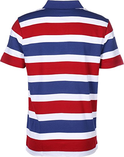 Lacoste Sport Striped Polo Blau Rot Weiß