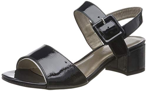 Tamaris Damen 1-1-28211-22 Riemchensandalen, Blau (Navy PATENT 826), 41 EU Patent Schuhe