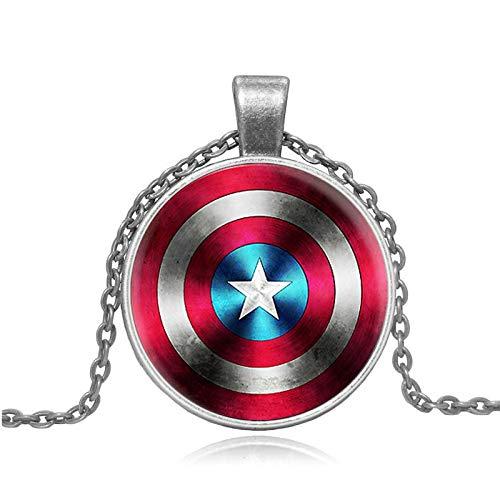 GLKIKNDIA Mode Halskette Schild Stern Glaskunst Halsketten Anhänger
