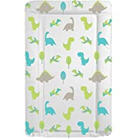 Deluxe Unisex Baby Waterproof Changing Mat with Raised Edges - Unique Dinosaur Design