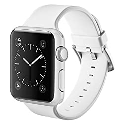 Vandarui For Apple Sports Watch Band,silicone Bracelet Strap Wristband Replacement Band For Apple Watch Series 1,apple Watch Series 2,apple Watch Series 3 (42mm, White)