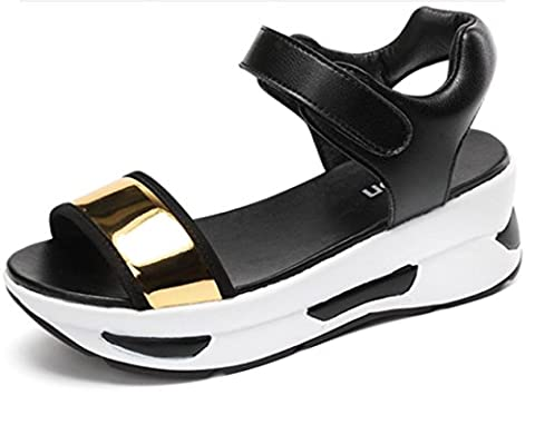 Sandales pour femmes Été Creepers Comfort Leatherette Outdoor Office & Career Casual Casual Creepers Buckle Walking , gold , us6.5-7 / eu37 / uk4.5-5 / cn37