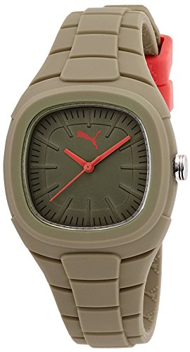 Puma Bubble Gum - Small Unisex Quartz Watch with Green Dial Analogue Display and Green Silicone Strap PU102882010